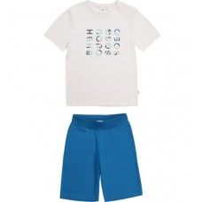 Hugo Boss Boys T-Shirt & Shorts Set - Blue