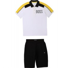 Hugo Boss Boys Polo & Shorts Set - Navy