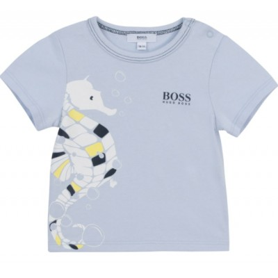 Hugo Boss Infant Boys Short Sleeve T-Shirt - Pale Blue