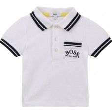 Hugo Boss Infant Boys Short Sleeve Polo - White
