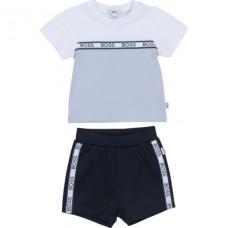 Hugo Boss Infant Boys Top & Shorts Set - Pale Blue