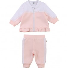 Hugo Boss Infant Girls Track Suit - Pale Pink