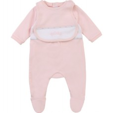 Hugo Boss Infant Girls Pyjama & Bib Set - Pale Pink