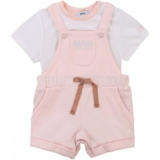Hugo Boss Infant Girls Dungaree Set - Pale Pink