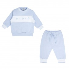Pastels & Co Boys Sweatshirt Set - Pale Blue
