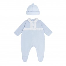 Pastels & Co Boys All In One With Hat - Pale Blue