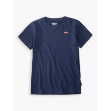 Levi Kids Embroidered Short Sleeve T-Shirt - Navy