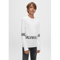 ~Calvin Klein Boys Long Sleeve T-Shirt - White