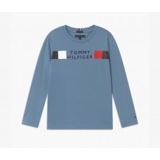 Tommy Hilfiger Boys Long Sleeve T-Shirt - Vintage Denim