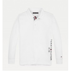 Tommy Hilfiger Boys Long Sleeve Polo - White
