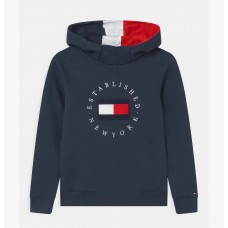 Tommy Hilfiger Boys Hooded Jumper - Navy