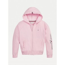 Tommy Hilfiger Girls Hooded Zipper - Pink