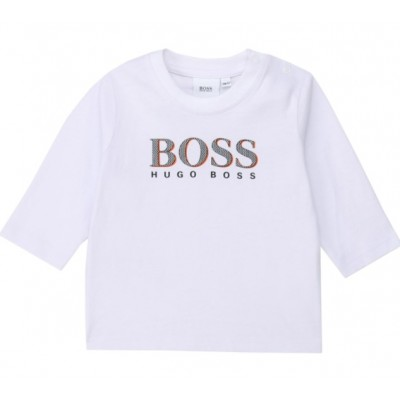 Hugo Boss Infant Boys Long Sleeve T-Shirt - White