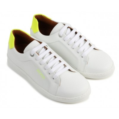 ~Hugo Boss Lace Trainer - White