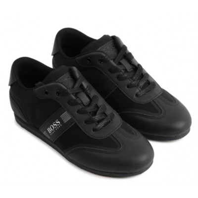 ~Hugo Boss Lace Trainer - Black