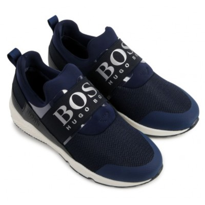 ~Hugo Boss Slip On Trainers - Navy