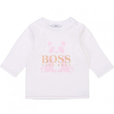 Hugo Boss Infant Girls T-Shirt - White