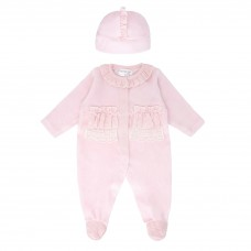 Pastels & Co Girls Sleepsuit With Hat - Pink