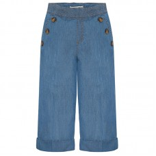 ~Mayoral Junior Girls Wide Jean - Light Denim