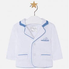 ~Mayoral Baby Boys Summer Blazer - White