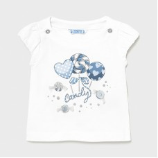 Mayoral Infant Girls Lollipop T-Shirt - White