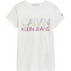Calvin Klein Girls Short Sleeve T-Shirt - White