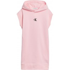 Calvin Klein Girls Hooded Dress - Pink