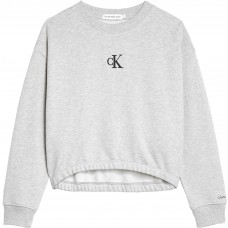Calvin Klein Girls Crop Jumper - Grey
