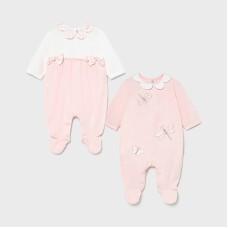 Mayoral Baby Girls 2 Pack Pyjama Set - Pink