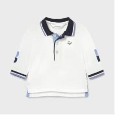Mayoral Baby Boys Long Sleeve Polo - White