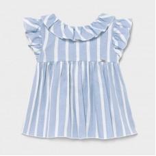 Mayoral Infant Girls Ruffle Blouse - Sky