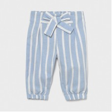 Mayoral Infant Girls Striped Trouser - Sky