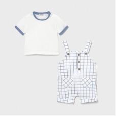 Mayoral Baby Boys Dungaree Short Set - Pale Blue