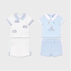 Mayoral Baby Boys 4 Piece Short Set - Pale Blue