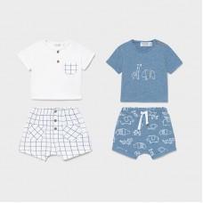 Mayoral Baby Boys 4 Piece Short Set - Blue