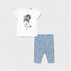 Mayoral Infant Girls Floral Legging Set - Blue