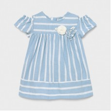 Mayoral Infant Girls Stripe Dress - Sky