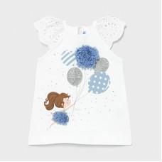 Mayoral Infant Girls Balloon Dress - Sky