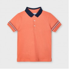 Mayoral Kids Boys Short Sleeve Polo - Apricot