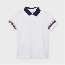 Mayoral Kids Boys Short Sleeve Polo - White