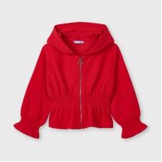Mayoral Kids Girls Hooded  Zipper - Red