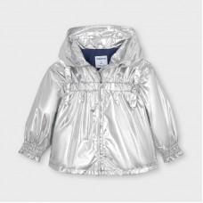 Mayoral Kids Girls Shiny Windbreaker - Silver