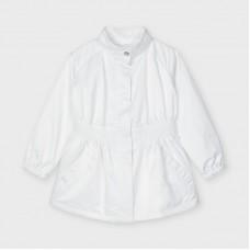 Mayoral Kids Girls Coat - White