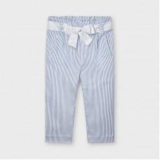 Mayoral Kids Girls Stripe Trouser - Blue