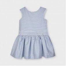 Mayoral Kids Girls Stripe Dress - Blue