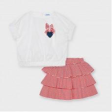 Mayoral Kids Girls Skirt Set - Red