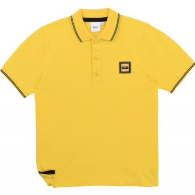 Hugo Boss Boys Short Sleeve Polo - Yellow