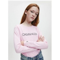 ~Calvin Klein Girls Long Sleeve T-Shirt - Pink