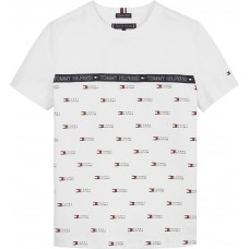 Tommy Hilfiger Boys Short Sleeve T-Shirt - White