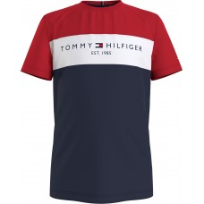 Tommy Hilfiger Boys Short Sleeve T-Shirt - Navy